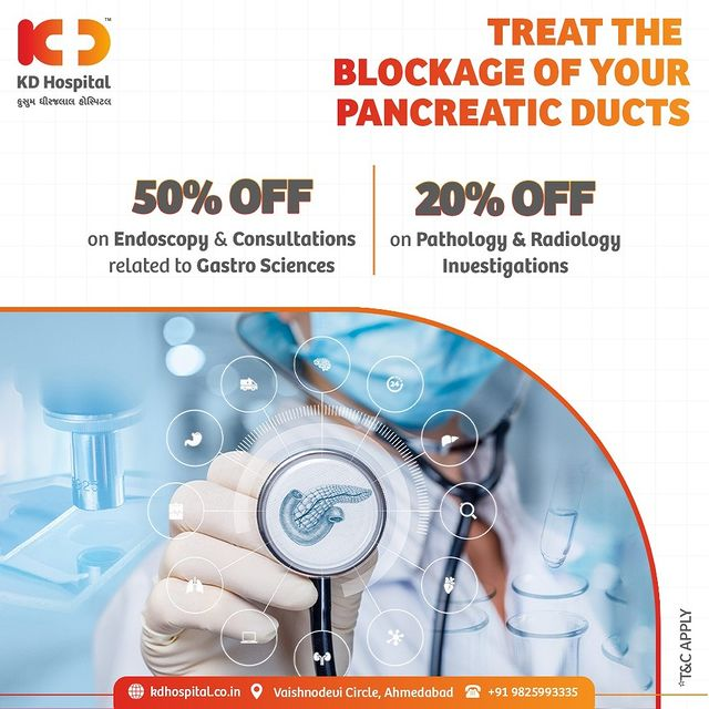 Abdominal pain, jaundice, diarrhoea and loss of appetite could be the symptoms of pancreatic duct obstruction. Call +919825993335 to get your GI system-related symptoms checked on concessional rates.   #KDHospital #GastroSciences #GastroEnterology #GastroSurgery #Pancreas #PancreaticDuct #Cancer #Tumor #Inflammation #StomachDiseases #Fibrosis #Diagnosis #Therapeutics #Awareness #wellness #goodhealth #wellnessthatworks #Nusring #NABHHospital #QualityCare #hospital #explore #healthcare #physicians #surgeon #Ahmedabad #Gujarat #India