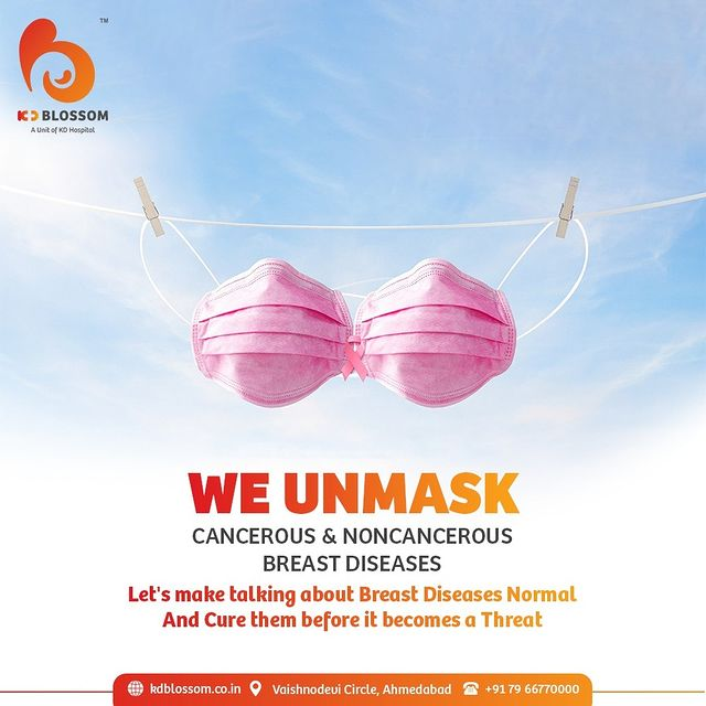 Unmask your Breast Diseases and talk it out loud! For appointments Call Now on +91 7966770000 and find the cure for cancerous & non-cancerous breast diseases.   #KDHospital #KDBlossom #breastcancer #breast #breastdiesease #Diagnosis #Therapeutics #Awareness #wellness #goodhealth #wellnessthatworks #Nursing #NABHHospital #QualityCare #hospital #explore #healthcare #physicians #surgeon #Ahmedabad #Gujarat #India