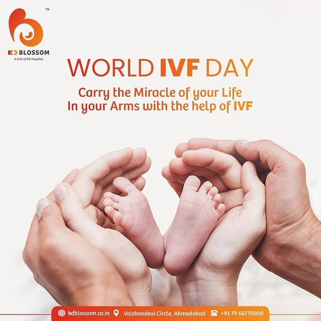 Turn your hopes into reality, and let the little miracle blossom in your family with the help of IVF. Visit KD Blossom Fertility Clinic today only to get the expert counselling.   Call +917966770000 to book your appointment with KD Blossom.   #worldivfday #ivfday #ivf #femaleinfertility #maleinfertility #infertility #KDHospital #Diagnosis #Therapeutics #Awareness #wellness #goodhealth #wellnessthatworks #Nursing #NABHHospital #QualityCare #hospital #explore #healthcare #physicians #surgeon #Ahmedabad #Gujarat
