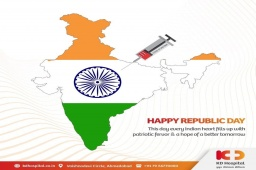 Let us make a pledge to our motherland that we will do everything that we can to rid it of all the evils. Come together and support Vaccination Drive for a COVID-19 free Nation. Happy 72nd Republic Day 2021  #KDHospital  #ImmunisedIndia